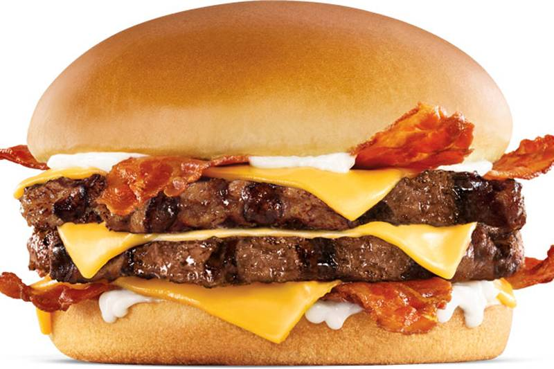 carl's jr. monster angus thickburger with bacon, cheese, and mayo