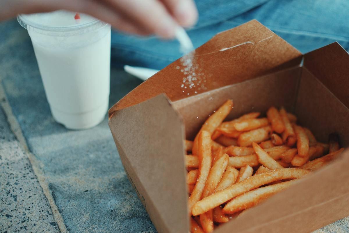 Salting fries