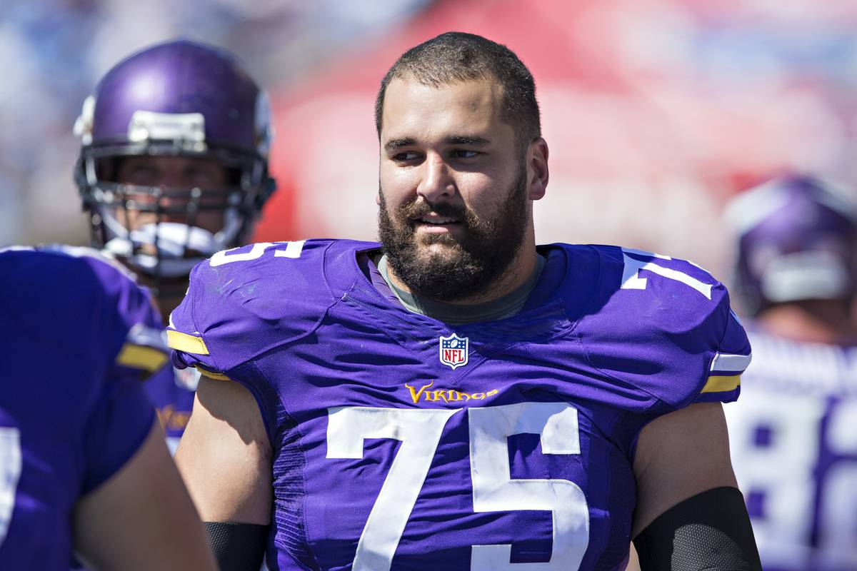 Matt Kalil is seen during a game against the Tennessee Titans.