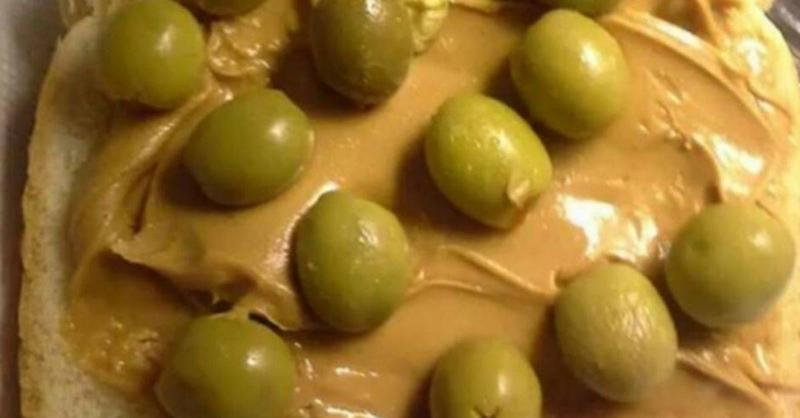 peanut butter with olives