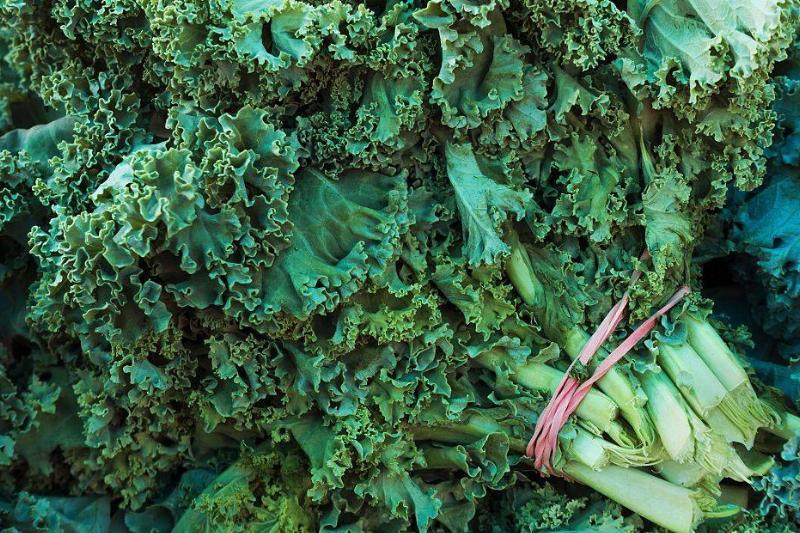 Kale is seen at a Farmer's Market