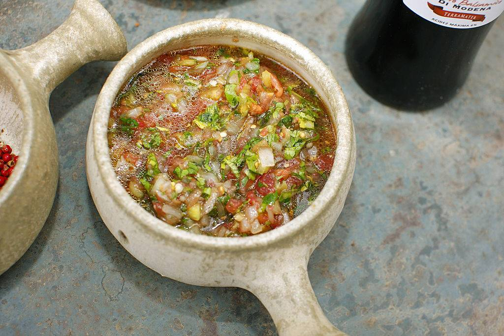 bowl with salsa