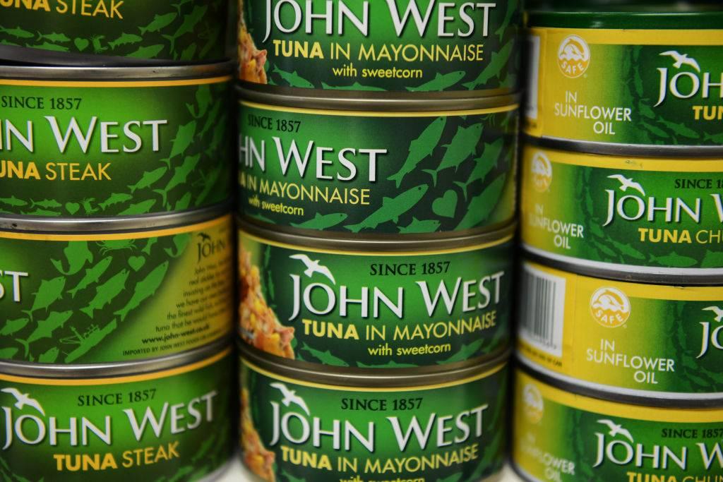 tins of tuna fish
