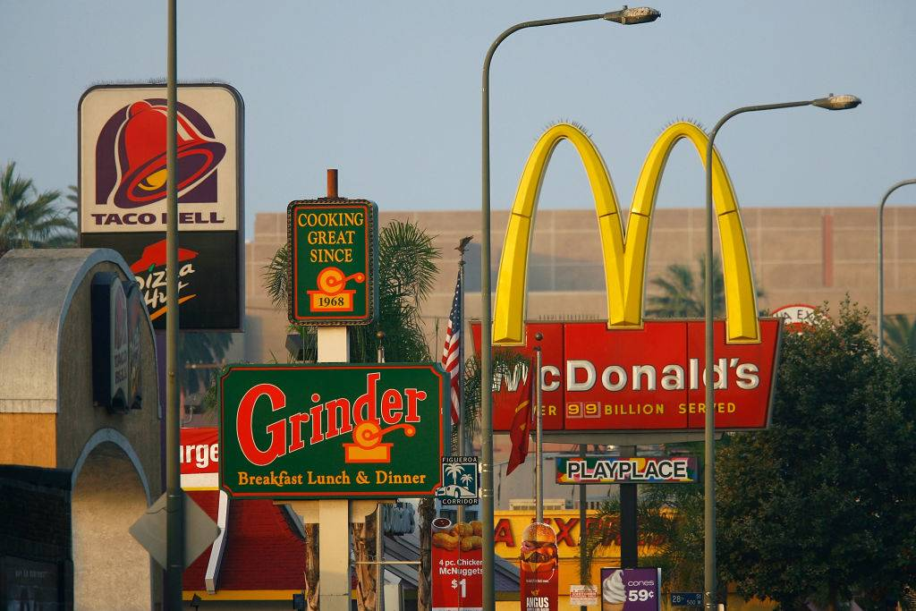Picture of fast food restaurants