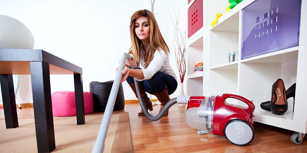 Picture of woman vacuuming