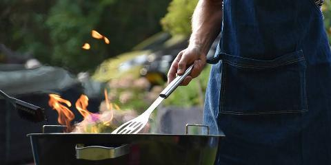 Picture of person grilling