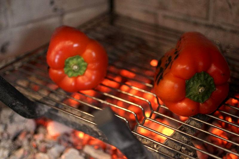 Picture of roasted peppers