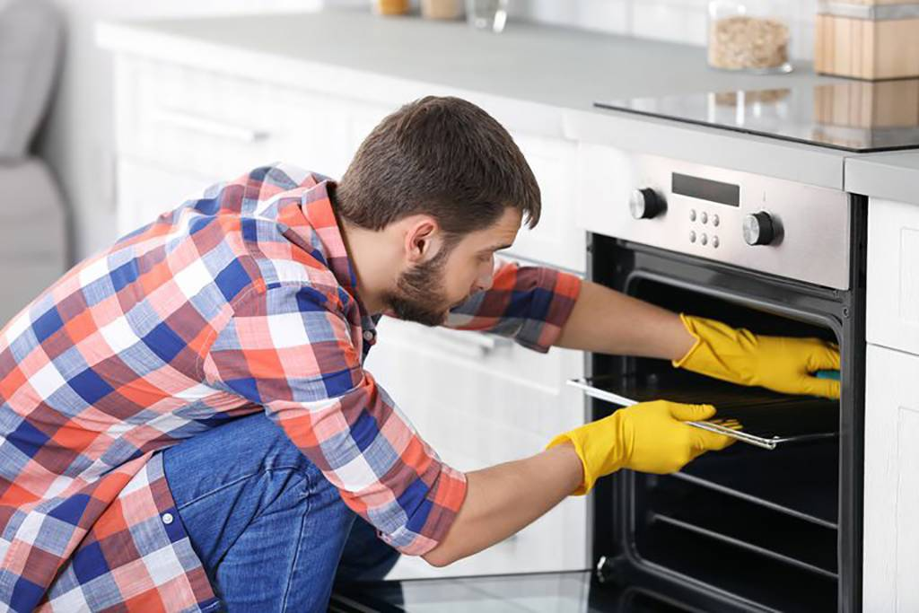 Picture of man cleaning