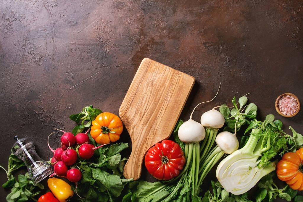 Picture of wooden cutting board