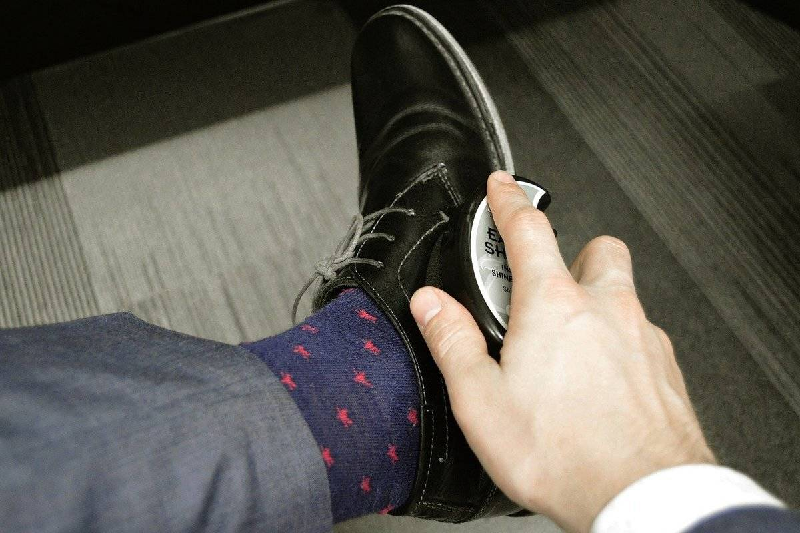 shoe-polishing