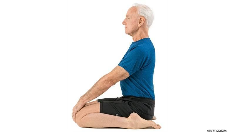 a man sitting with his back straight