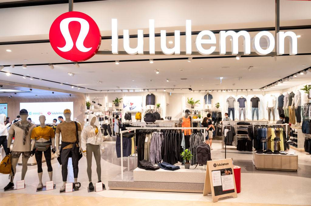 the front of a lululemon store