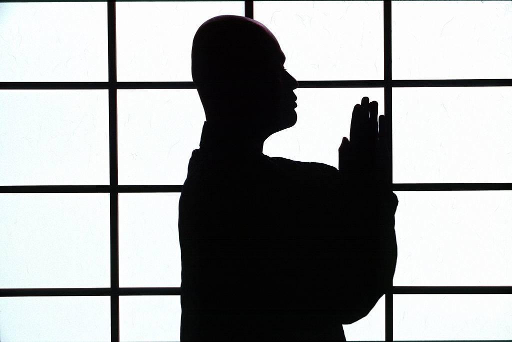 a zen monk practicing meditation