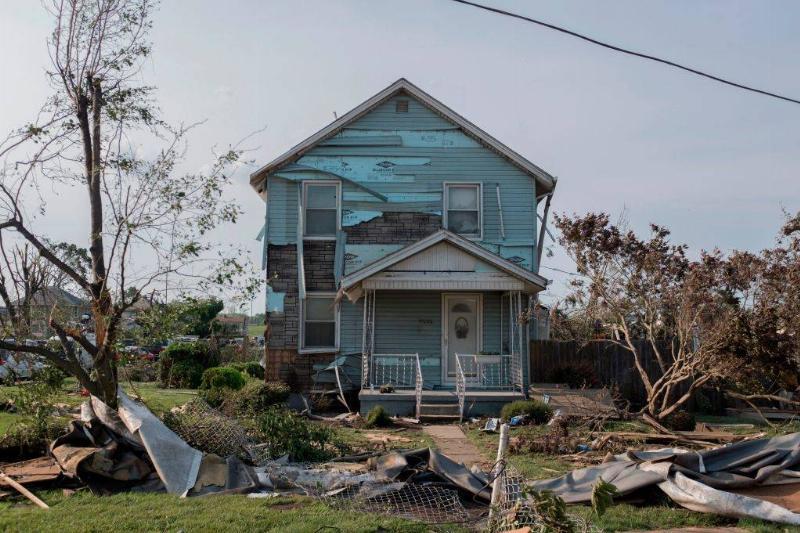 a run-down house in Dayton, Ohio