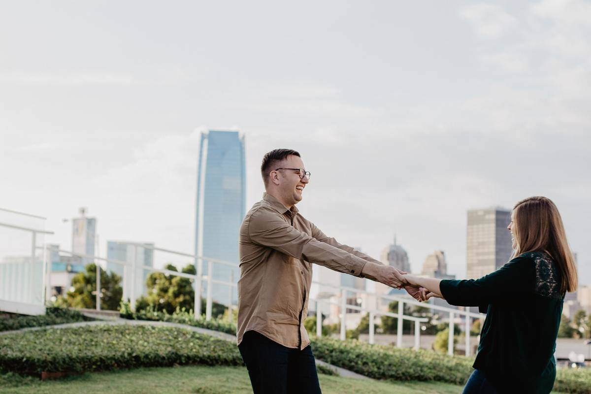 a couple dancing in oklahoma city