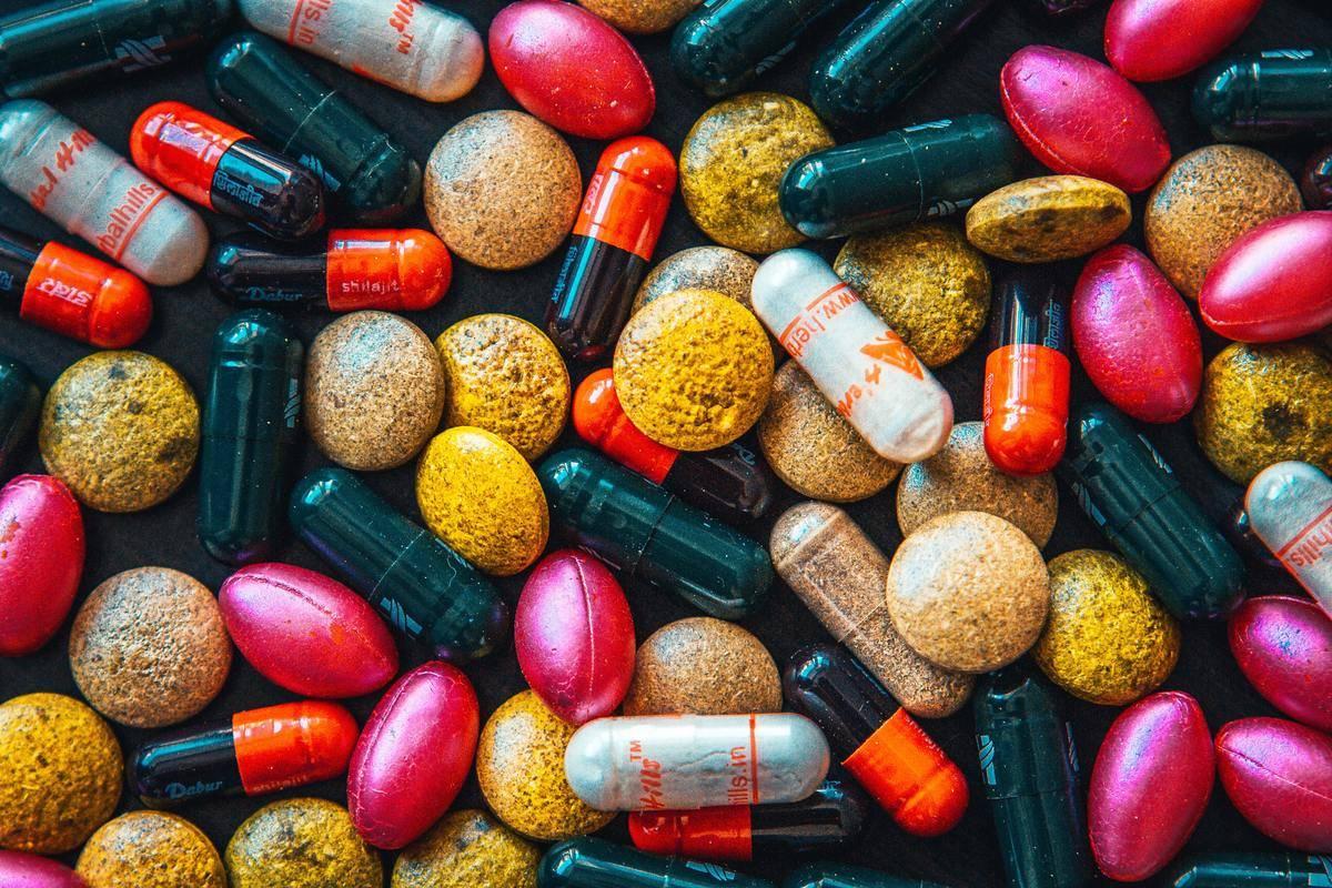 vitamins piled together